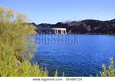 Parker dam on lake Havasu in Arizona