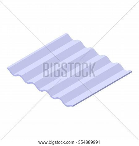 Construction Slate Icon. Isometric Of Construction Slate Vector Icon For Web Design Isolated On Whit