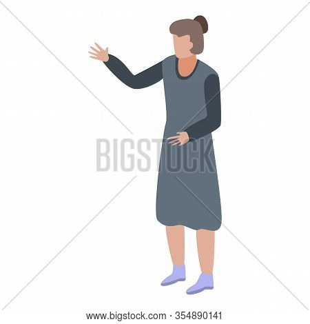 Entrepreneur Woman Icon. Isometric Of Entrepreneur Woman Vector Icon For Web Design Isolated On Whit