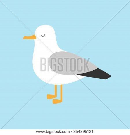 Antarctica Albatross Icon. Petrel Seagull Wandering Royal Bird. Arctic Animal Collection. Cute Carto