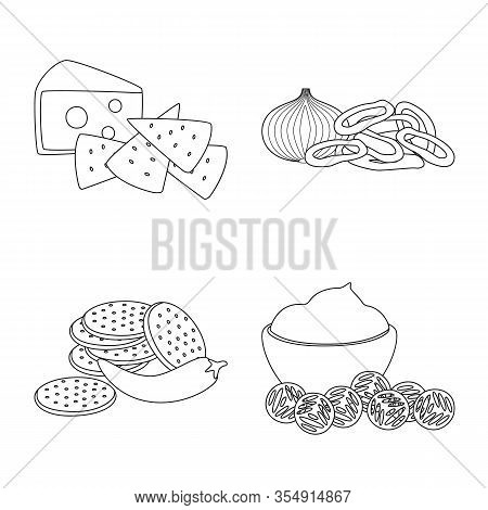 Isolated Object Of Taste And Crunchy Icon. Collection Of Taste And Cooking Stock Symbol For Web.