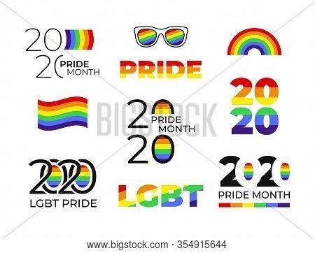 Lgbt Pride 2020. Pride Month. Lgbtq. Stickers. Vector
