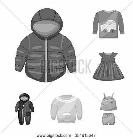 Vector Illustration Of Cloth And Apparel Icon. Set Of Cloth And Garment Vector Icon For Stock.