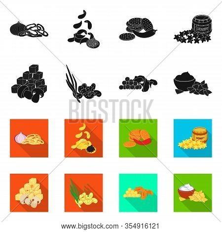 Vector Design Of Taste And Seasonin Symbol. Set Of Taste And Organic Stock Vector Illustration.