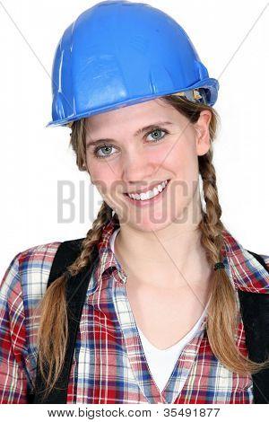 Portrait of a smiling tradeswoman
