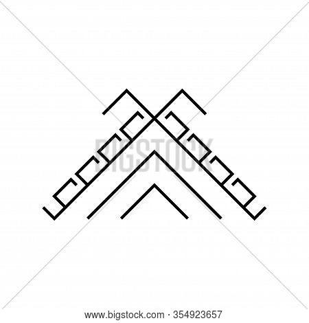 Old Baltic Hidden Laima Cros Ssign. Folk Symbol.