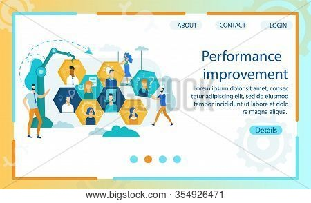 Poster Is Written Performance Improvement Flat. Getting Expected Results To Improve Company Performa