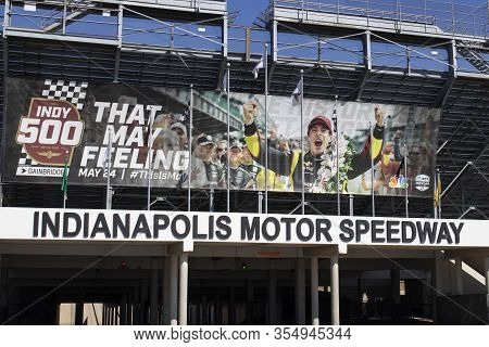 Indianapolis - Circa March 2020: Gate Two Entrance At Indianapolis Motor Speedway. Ims Prepares For