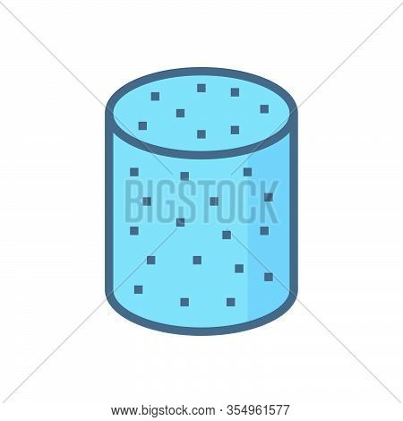 Concrete Specimen Cylinder Type Vector Icon Design.