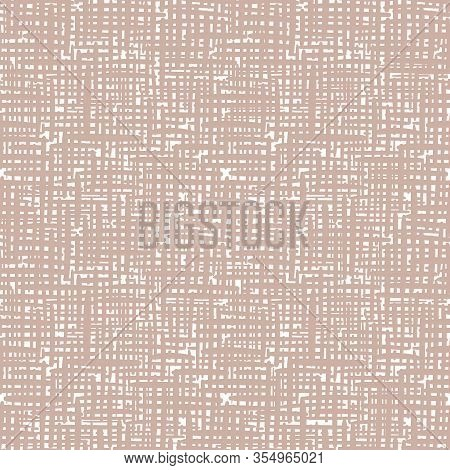 Vector Canvas Surface Texture Seamless Pattern Background. Organic Brush Stroke Effect Cloth Backdro