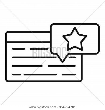 Web Press Release Icon. Outline Web Press Release Vector Icon For Web Design Isolated On White Backg