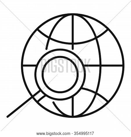 Global Smm Icon. Outline Global Smm Vector Icon For Web Design Isolated On White Background