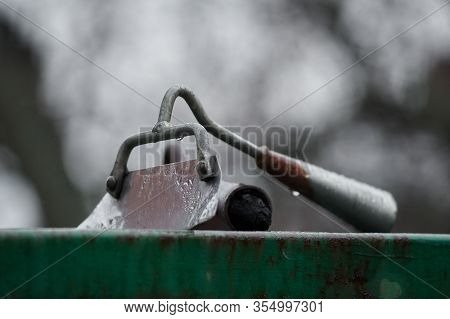 Disassembled Hoe, Tool For Agricultural Work, Spring