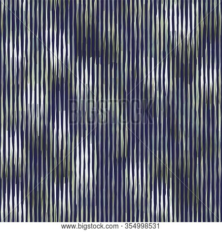 Spliced Vector Camouflage Stripe Texture. Variegated Mottled Background. Seamless Camouflage Pattern