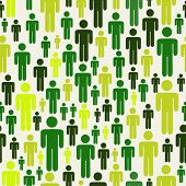 Green social media business people connection pattern. Vector file layered for easy manipulation and custom coloring. poster