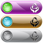 Protection nature. Internet buttons. Raster illustration. Vector version is in my portfolio. poster