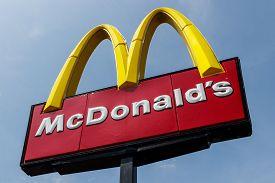 Tipton - Circa May 2019: Mcdonalds Restaurant Location. Mcdonalds Will No Longer Lobby Against Minim