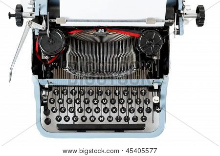 Retro Uncovered Blue Typewriter