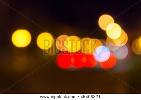 Night City Abstract Blur