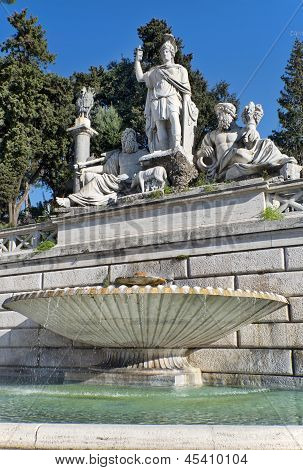 Fountain At The Foot Of Statue Of Romulus And Remus, The Founders Of Rome