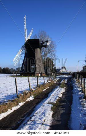 Winter Windmill Portrait