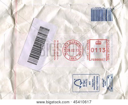 UK - CIRCA 2013: A stamp printed in UK shows image of the Postage Paid, circa 2013.