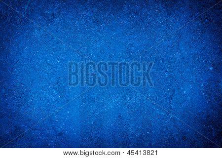 Abstract Blue Background Of Elegant Dark Blue Vintage Grunge Texture