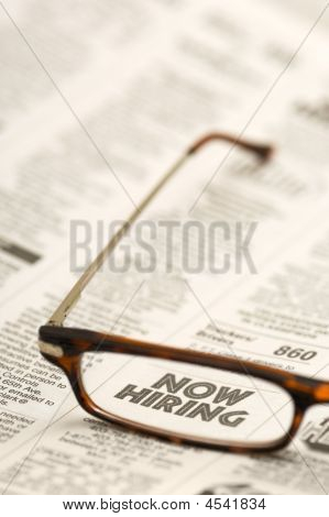 Now Hiring in reading glasses