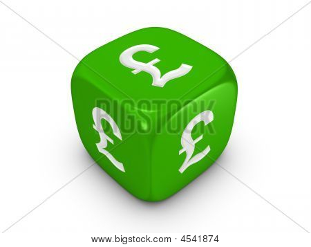 Green Dice With Pound Sign