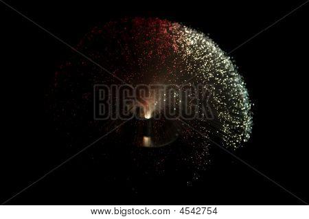 Fiber Glass Lamp Red White
