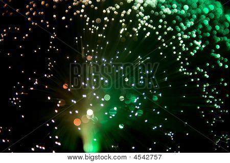 Multi Colored Fiber Glass Lamp