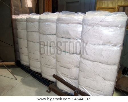 Plastic Wrapped Cotton Bales