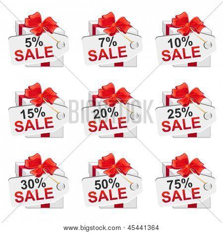White sale presents set. Vector illustration