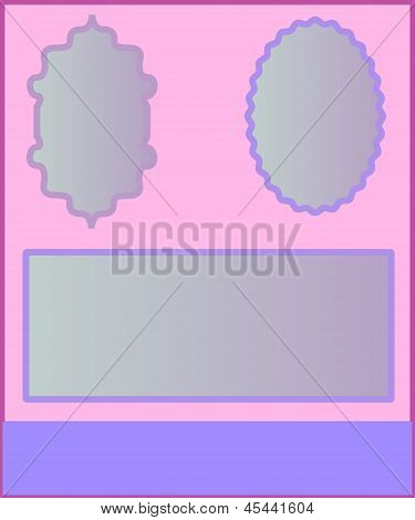 Frame for photos and invitations in pastel tones