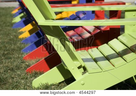 Chair In Rainbow Colors