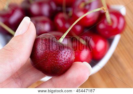 Seasonal Fresh Cherries.