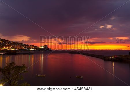 Sunset Over Zonguldak Port