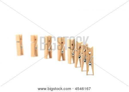 Clohes Pegs In Formation