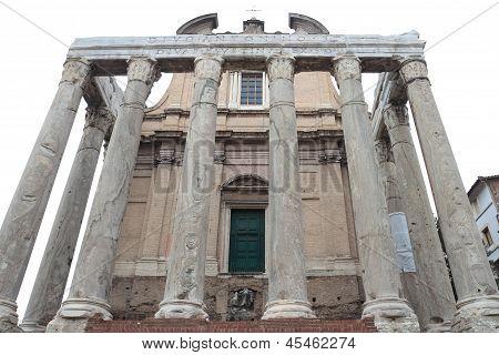 San Lorenzo In Miranda In Rome, Italy.