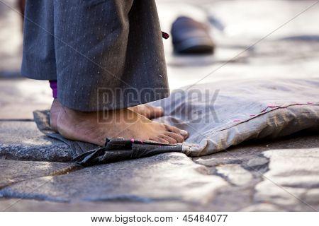 barefoot pilgrim