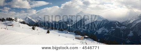 Panoramic View Alps In Austria