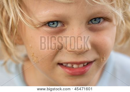Close-up Portrait Of Cute Boy