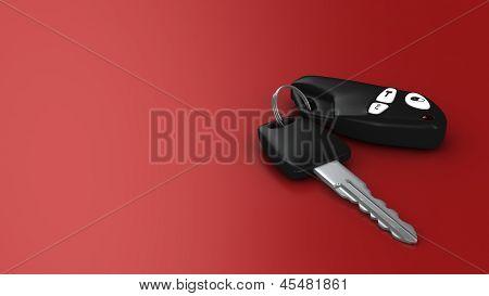 Car Key On Red