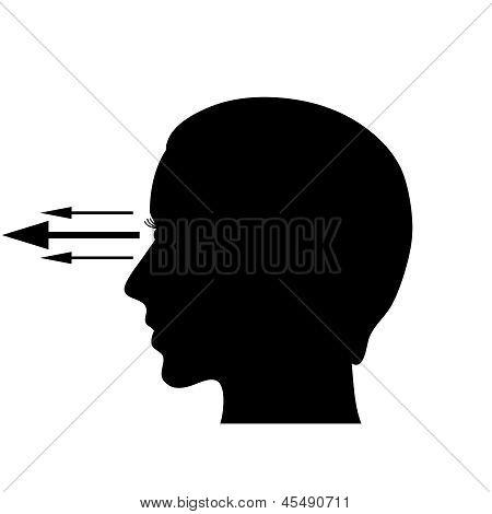 Eyesight vector symbol