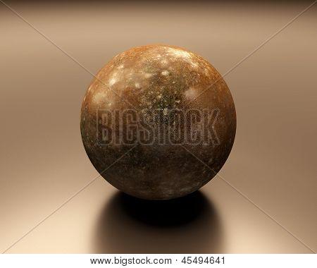 Jupitermoon Callisto Blank