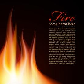 Fire background Text Design