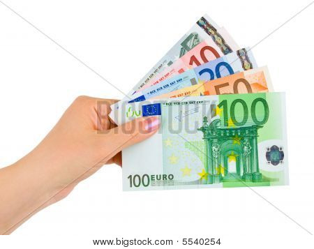 Mano con soldi Euro