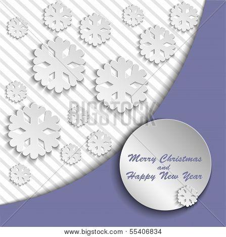 Lilac Christmas card
