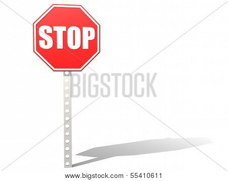 Stop road sign all