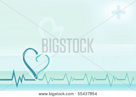 Medicine background heartbeat EKG